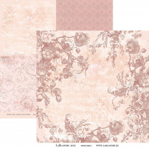 "LaBlanche 12x12"" Dobbeltsidet Papir, Antique Rose #6"