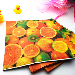 Beyond Visions Decoupage Servietter Fruit Orange