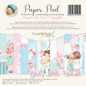 "LemonCraft 6x6"" Scrapbooking Pad - Girl's Little World"