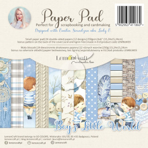 "LemonCraft 6x6"" Scrapbooking Pad - Boy's Little World"
