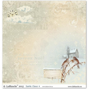 "LaBlanche Papers ""Santa Claus"" 4 Dobbeltsidet 12x12"""