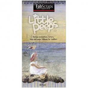 """FabScraps Little Peeps Journal Tags, Shapes & Pages 8x4"""" Pad TASTER"""