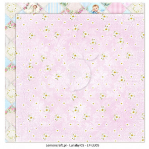 "LemonCraft Double Sided 12x12"" Scrapbooking Paper - Lullaby 05"