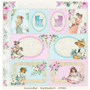 "LemonCraft Tiny Miracles Collection 12x12"" Dobbeltsidet Scrapbooking Papir - 06"