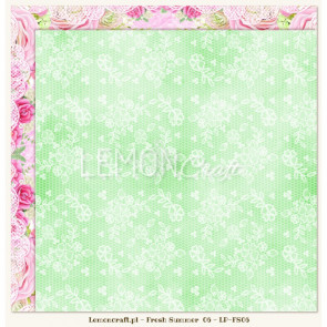 "LemonCraft Double Sided 12x12"" Scrapbooking Paper - Fresh Summer 06"