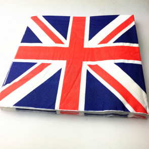 Beyond Visions Decoupage Servietter UK Flag