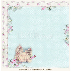 "LemonCraft Tiny Miracles Collection 12x12"" Dobbeltsidet Scrapbooking Papir - 05"