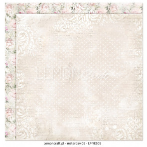 "LemonCraft Double Sided 12x12"" Scrapbooking Paper - Yesterday 05"