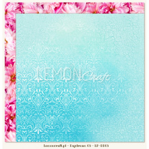 """LemonCraft Double Sided 12x12"""" Scrapbooking Paper - Daydream 05"""