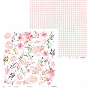 "Piatek13 Love In Bloom Double-Sided Cardstock 12x12"" Design 7"