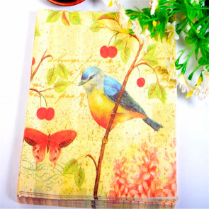 Beyond Visions Decoupage Servietter Yellow Bird