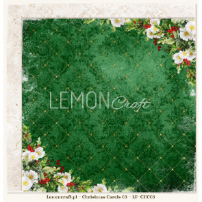 "LemonCraft Double Sided 12x12"" Scrapbooking Paper - Christmas Carols 03"