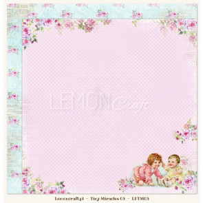"LemonCraft Tiny Miracles Collection 12x12"" Dobbeltsidet Scrapbooking Papir - 03"