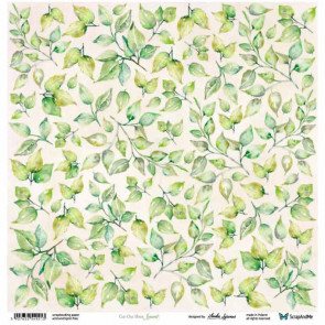 """ScrapAndMe Paper Ark 12x12"""" Meadow Impressions Leaves Cut Out Sheet"""