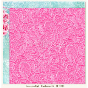 """LemonCraft Double Sided 12x12"""" Scrapbooking Paper - Daydream 03"""