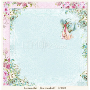 "LemonCraft Tiny Miracles Collection 12x12"" Dobbeltsidet Scrapbooking Papir - 02"