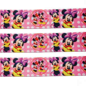 22mm Cartoon Printed Stofbånd - Disney Minnie Mouse Sweet