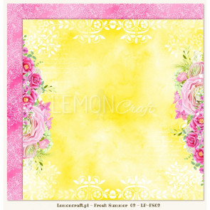 "LemonCraft Double Sided 12x12"" Scrapbooking Paper - Fresh Summer 02"