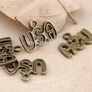 Charms 1,5x1cm Antik Bronze USA