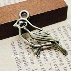 Antique Bronze Plated Charms - Beads the Birds Shape