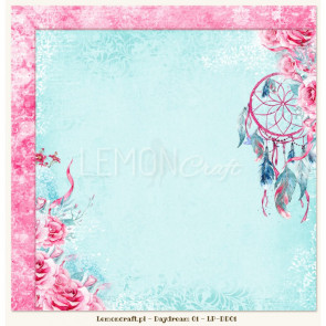 """LemonCraft Double Sided 12x12"""" Scrapbooking Paper - Daydream 01"""
