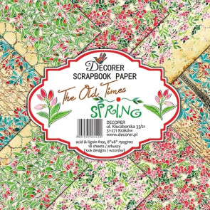 "Decorer Papir Pakke 8x8"" - The Old Times - Spring TASTER"
