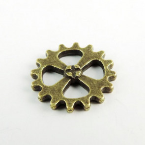 Findings Steampunk Gears 1,5 cm - Antik Bronze