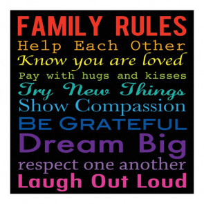"Sugar Tree Papers 12x12"" - Family Rules"