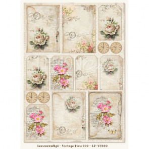 LemonCraft A4 Scrapbooking Paper, House Of Roses, Vintage Time 009