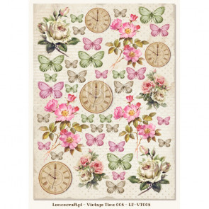 LemonCraft A4 Scrapbooking Paper, House Of Roses, Vintage Time 008