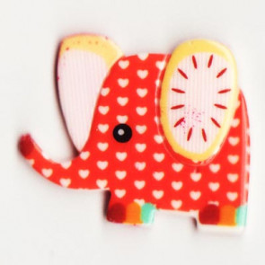 Resin Kawaii Elefant Rød