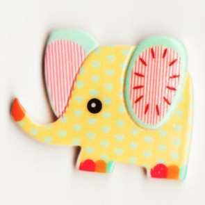 Resin Kawaii Elefant Gul