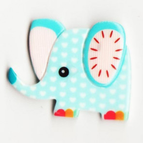 Resin Kawaii Elefant Lyseblå