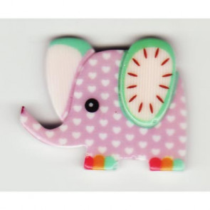 Resin Kawaii Elefant Lilla
