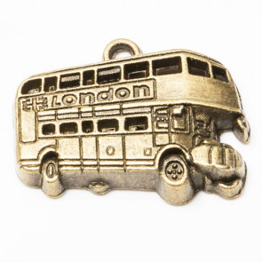 Beyond Visions Metal Pynt - Antik Bronze London Bus Charms