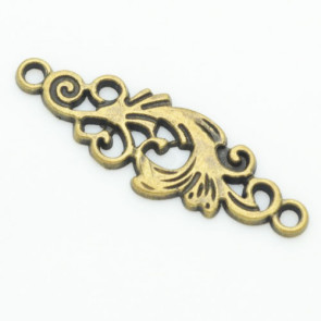 Beyond Visions Charms Antique Bronze Blomst