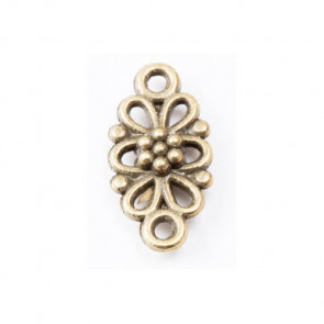 Beyond Visions Charms Antique Bronze Mini Blomst