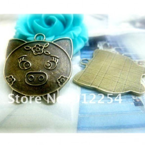 Charms 2,3x2,5cm Antik Bronze Gris