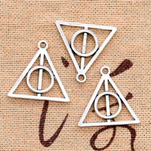 Beyond Visions Metal Pynt - Sølvtonet Harry Potter Hollows Deathly Charms