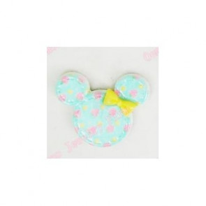 Resin Kawaii Minnie Hoved Blå