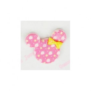 Resin Kawaii Minnie Hoved Pink