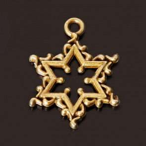 Findings Vintage Stars Charms 17x22mm - Antik Bronze