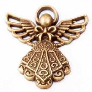 Beyond Visions Metal Pynt - Antik Bronze Engel Charms