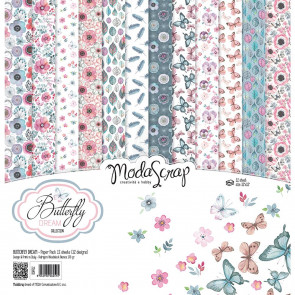 "ModaScrap Elizabeth Craft ModaScrap Paper Pack 12x12"" 12/Pkg - Butterfly Dream"
