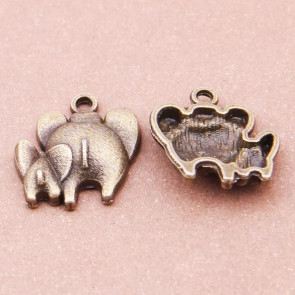 Findings Vintage Elephant Charms 17x14mm - Antik Bronze