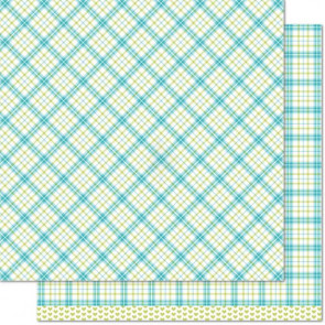 "Lawn Fawn Perfectly Plaid Double-Sided Cardstock 12x12"" - Ivy"