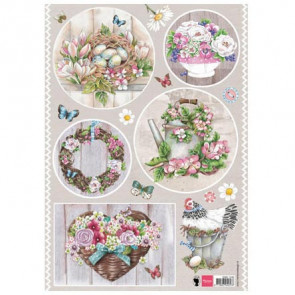 Marianne Design A4 Decoupage Papir - Country Style Flowers