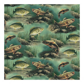"Sugar Tree Papers 12x12"" - Multi Lake Fish"