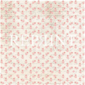 "Reprint Spring Blossom 12x12"" Dobbeltsidet Scrapark Roses For You"