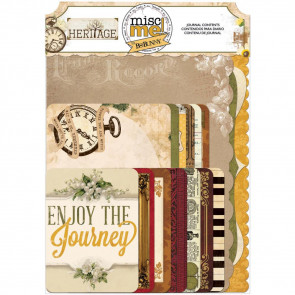 BoBunny Misc Me Journal Contents - Heritage
